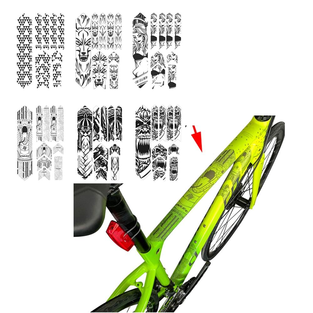 Bike Frame Sticker Mountain Bike Scratch Resistant Frame Protector F6W5