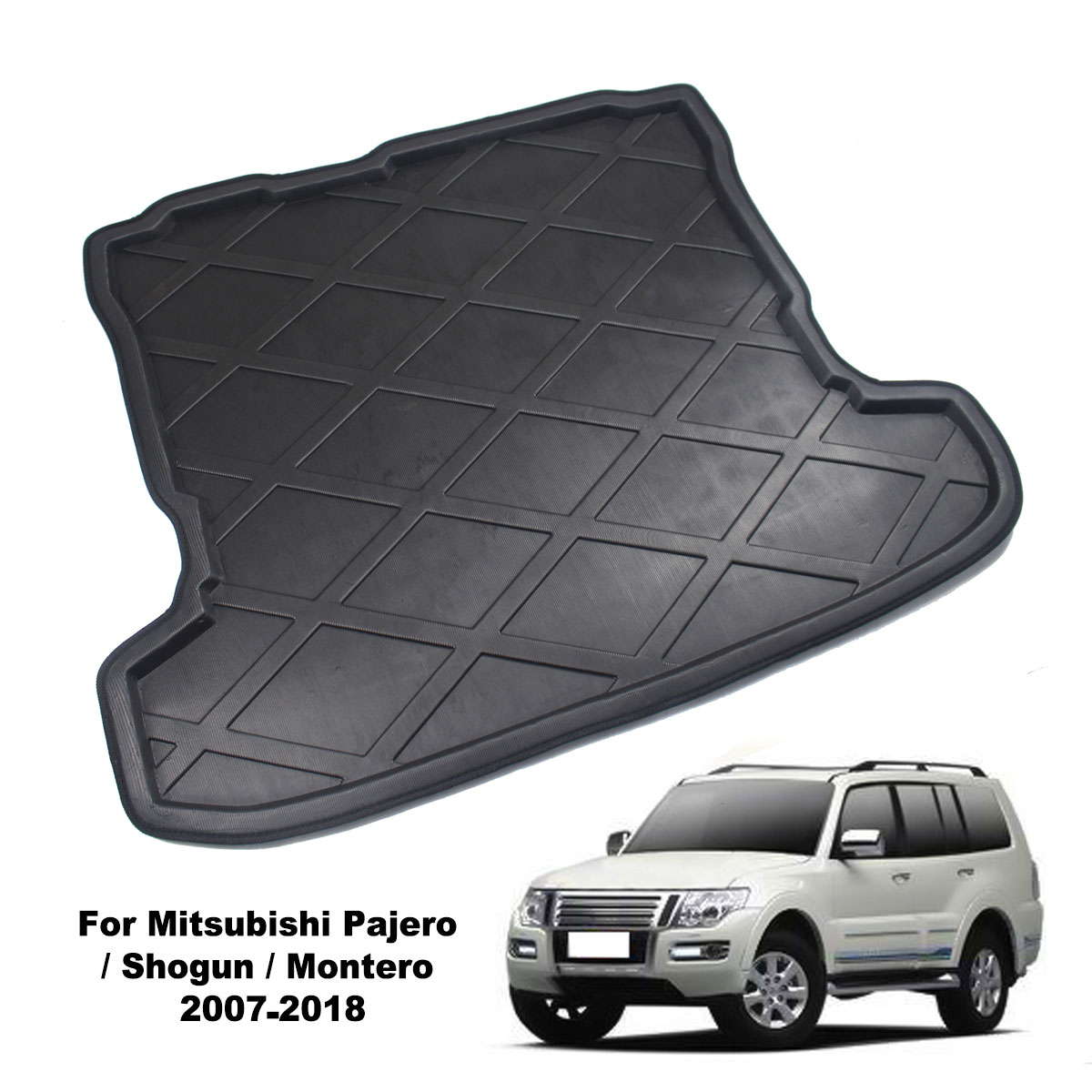 Floor-Carpet Trunk-Cover Cargo-Liner 2009 Pajero 2008 2007 Mitsubishi Rear for Shogun title=