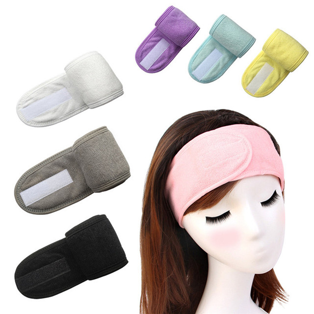 Girl Headband Wide Hair Band Accessory Sports Non-Slip Elastic Adjustable Velcro Tight Sweat-Absorbent Belt Yoga
