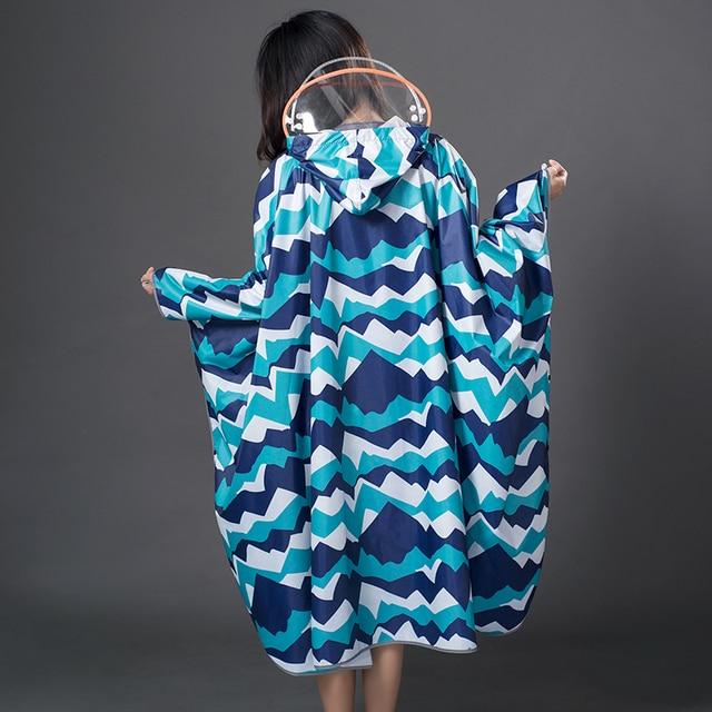 Long Women Raincoat Poncho Waterproof Suit Rain Coat Adult Outdoor Hiking Windbreaker Rain Partner Suit Chaquetas Mujer Gift 4
