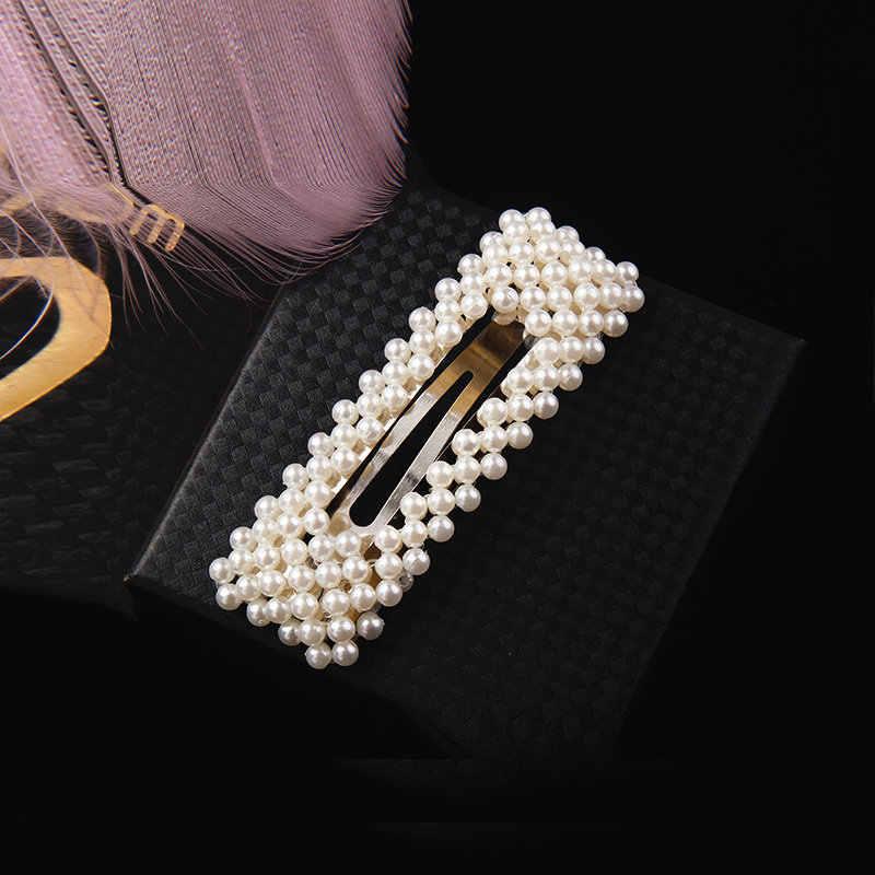 11.11 Fashion Seksi Elegan Yang Indah Mutiara Rambut Klip untuk Wanita Desain Korea Snap Baret Jepit Rambut Styling Aksesoris