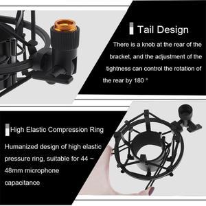 Image 5 - Soporte de micrófono de araña con Clip de estudio de grabación de Metal, montaje de choque con transferencia de cobre para micrófono de condensador de computadora