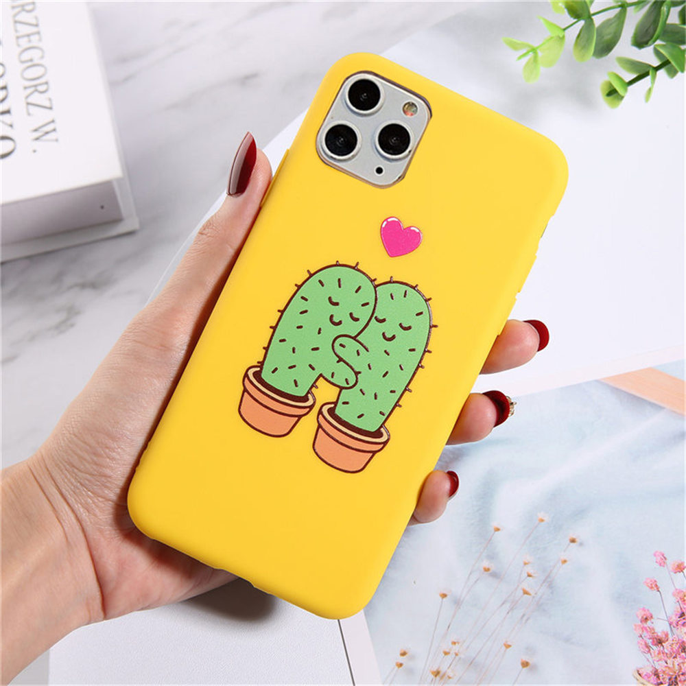 H5fd4a5fdbd5b4643a2505234609da427H - Lovebay Silicone Phone Cases For iPhone 7 XR 11 Pro Avocado Waves Cactus For iPhone 5SE 6 6s 8 Plus X XS Max Soft TPU Back Cover