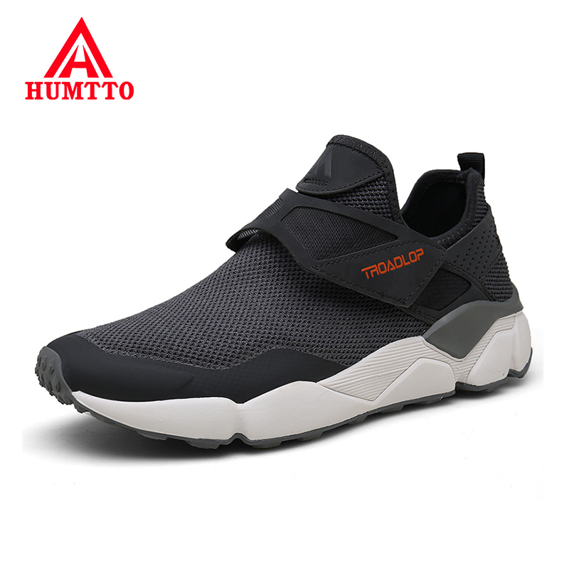 HUMTTO Spring Summer New Casual Shoes Men Breathable Light Mesh Male Flats Sneakers Brand Design Black Mens Shoes Big Size 36-46(China)