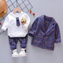 طفل طفل رضيع منقوشة دعوى مجموعة ملابس الموضة 3 قطعة طفل الفتيات بدلة طفل للبنين معطف تي شيرت السراويل 1 4 Y