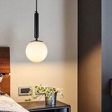 Modern Glass Pendant Lights Globe Round white ball Hanglamp Living Room Kitchen Luminiare lighting Fixtures LED nordic lamp