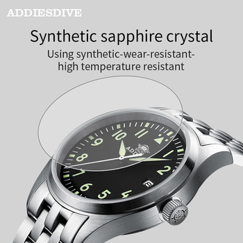 Addies Dive Pilot Watch Automatic Mechanical Diver Watch C3 Luminous men's watches divers Sapphire Crystal 200m dive watch NH35 4