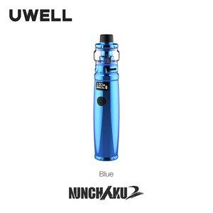 Image 3 - UWELL Nunchaku 2 Kit 100W Vape Mod 5ML Nunchaku 2 Tank Mesh Coil Support 18650 20700 21700 Battery E cigarette Vape Kit