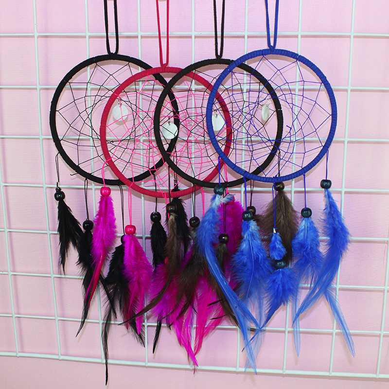Heart Dream Catcher 12cm Pink Girls Bedroom Decor Decorations Sleep Aid