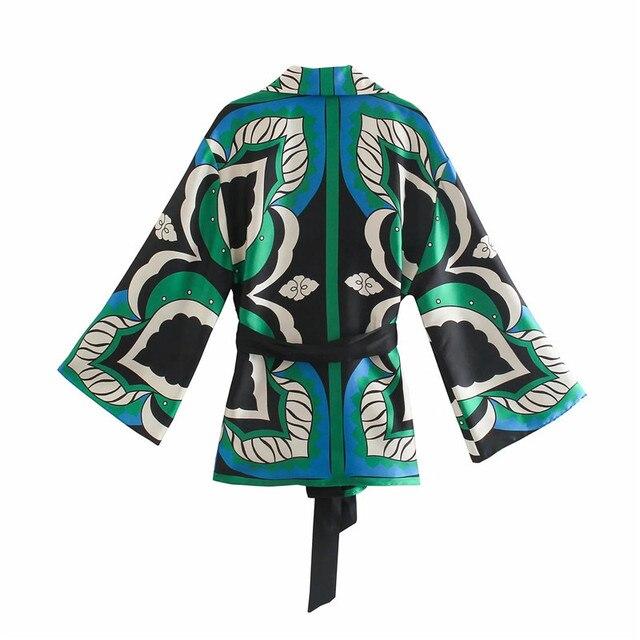 PSEEWE Za 2021 Bermuda Shorts Woman Summer Green Print High Waist Short Pants Women Vintage Loose Casual Streetwear Shorts Sets 5