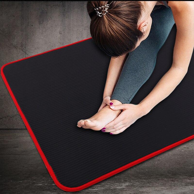 Exercise Sports Gym NBR Non-Slip Mats Fitness Sit-ups Body Shape Yoga Mat 10mm Thick Pilates Anti-Tearing Beginner Pads 8