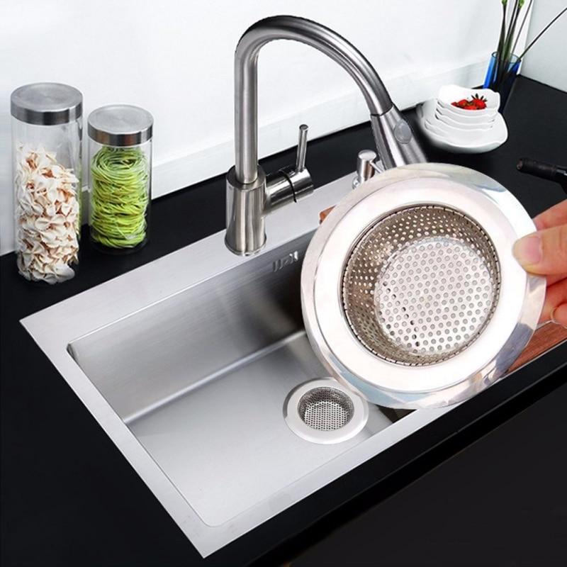 Kitchen Sink Filter Anti-Clogging Kitchen Sink Strainer Stainless Steel Sink Disposal Stopper Perforated Basket Drains Sieve