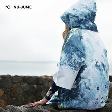 Пляжное полотенце с капюшоном nu june плавательное быстросохнущее