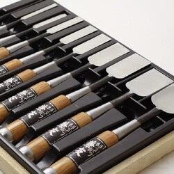 Giapponese falegnameria scalpello chase scalpello piatto scalpello la lavorazione del legno scalpello bastone scalpello in acciaio Placcato Anlai bianco di carta N ° 2 in acciaio