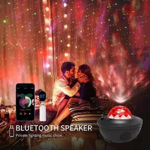 Image 4 - Colorful Starry Sky Projector Blueteeth USB Voice Control Music Player LED Night Light USB Charging Projection Lamp Kids Gift