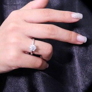 Image 5 - Женское кольцо из серебра 925 пробы, с муассанитом