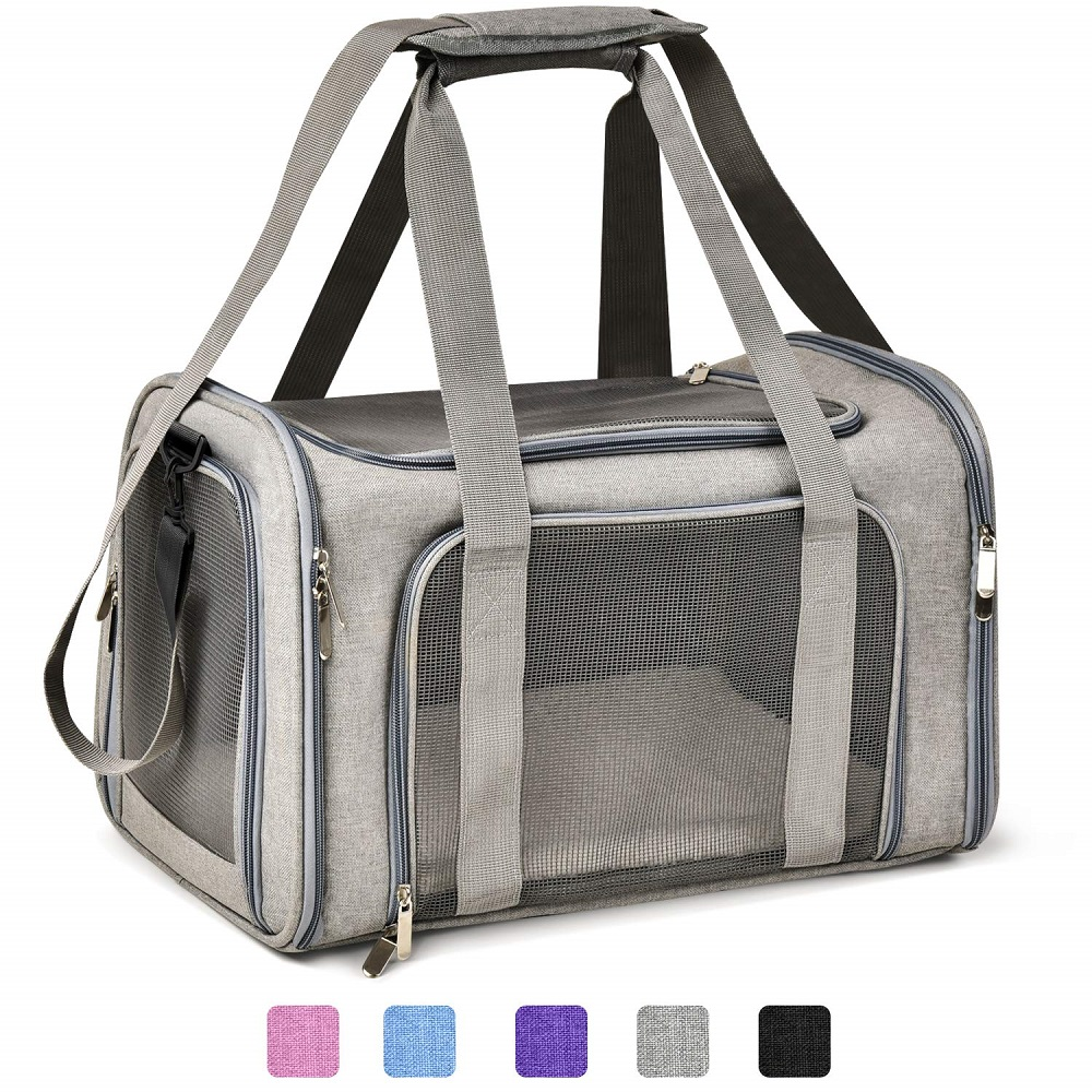 Dog Carrier Bags Portable Pet Backpack Messenger Cat Carrier  Outgoing Small Dog Travel Bag Soft Side Breathable MeshDog Carriers