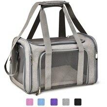 Torby na zakupy dla psów przenośny plecak na zwierzę Messenger Cat Carrier wychodząca mała torba podróżna dla psów miękka strona oddychająca siatka