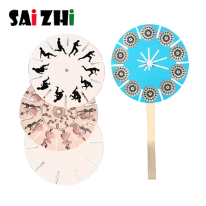Saizhi Technology Small Production Material Puzzle Handmade DIY Rotating Disc Toy Scientific Experiment Toys Educational Toy