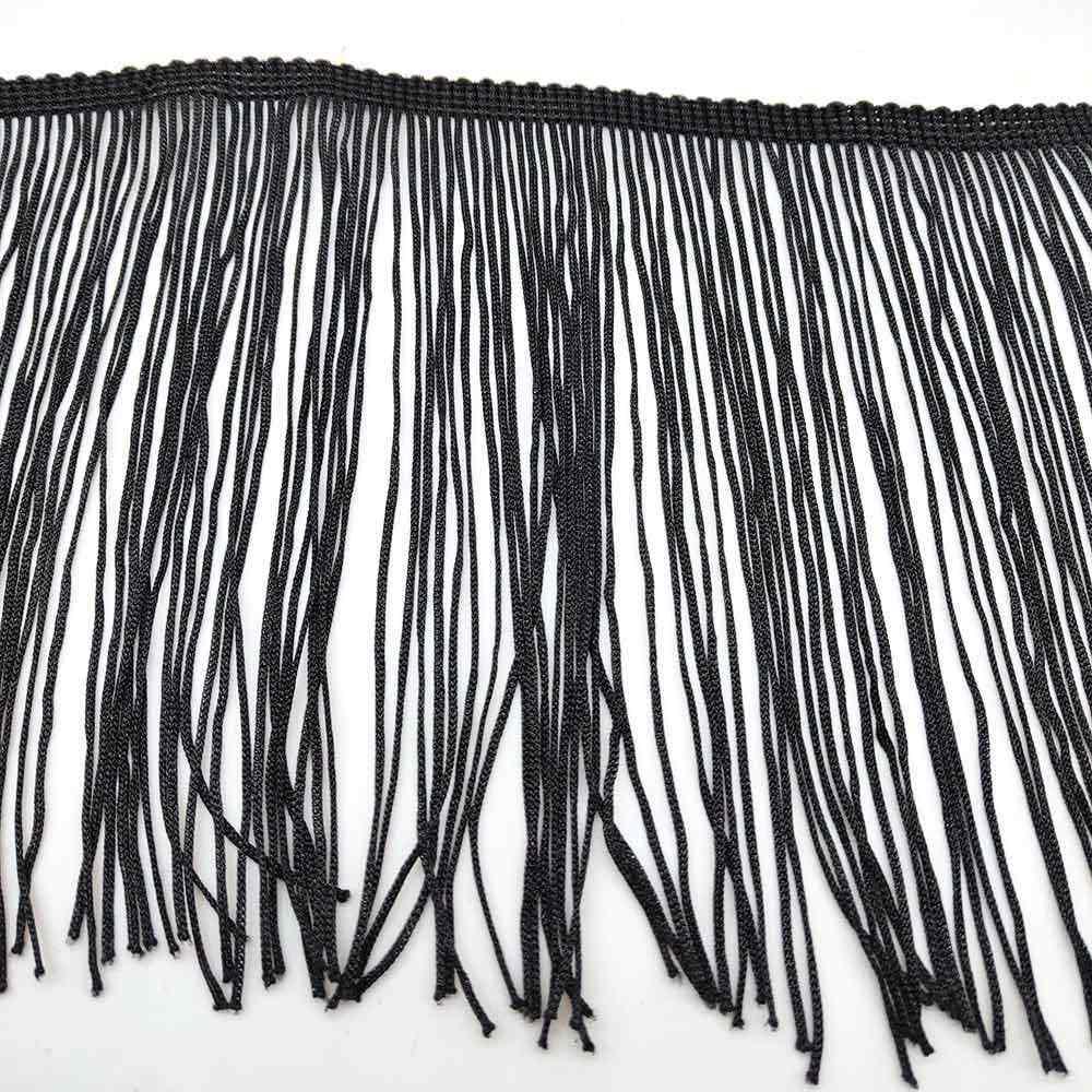 10 yards Weiß 15cm Breite Fringe Spitze Quaste Polyester Spitze Trim Band Nähen Latin Kleid Bühne Bekleidungs Vorhang DIY zubehör