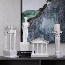 European Style Retro Ancient Rome Architectural Model Decoration Home Furnishing Column Greek Temple Building Model Statue