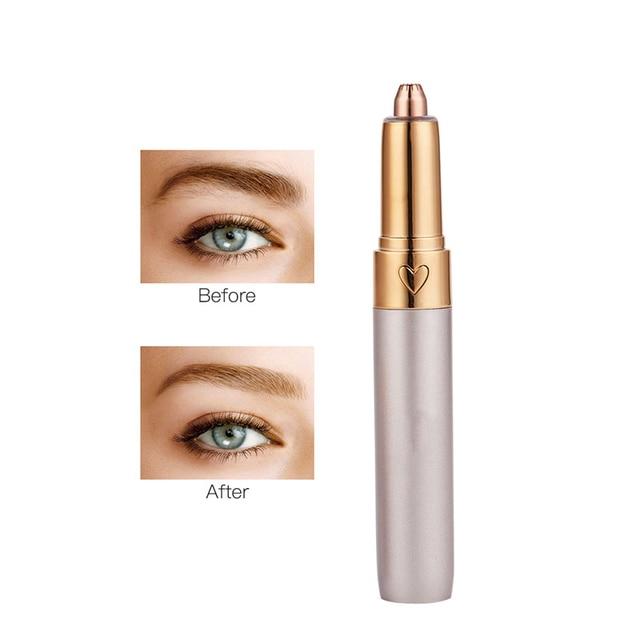 Electric Hair Removal  USB Eyebrow Trimmer Shaver Razor Lady Eyebrow Epilator  LED Light  Eyebrow Shaving Makeup Tool 2