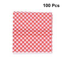 100 листов клетчатая Deli подкладка в корзину клетчатая пищевая обертка ping бумаги сэндвич обертывание гамбургером предотвращает пятна пищи