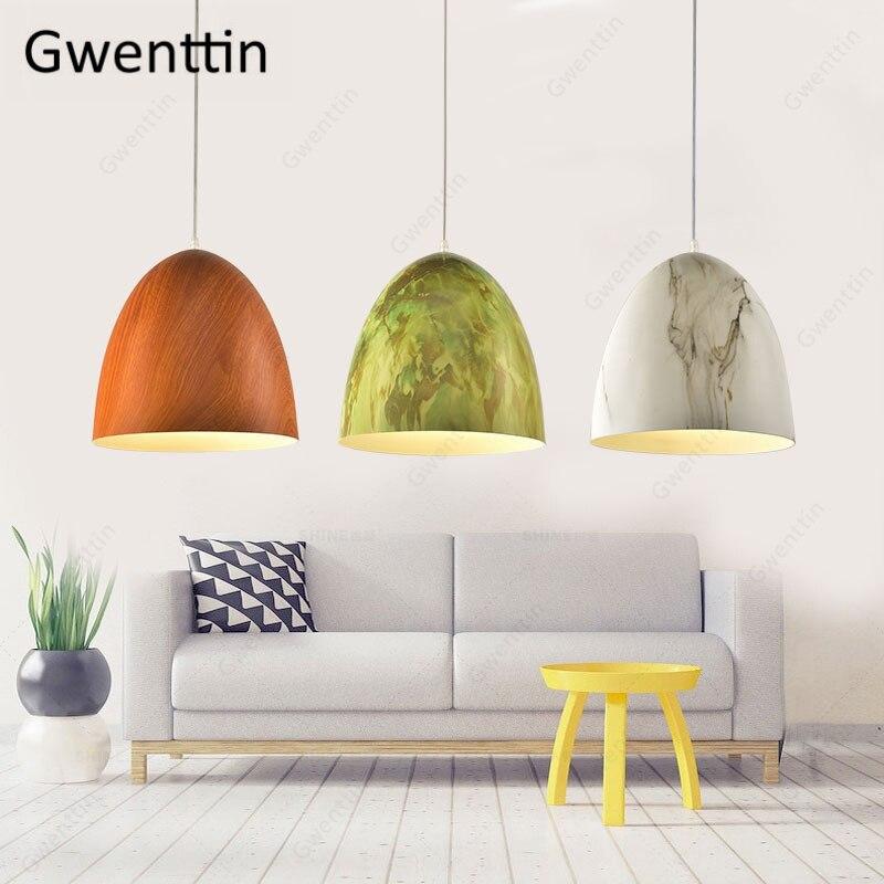 Imitation Wood Hanging Lamp Modern Pendant Light Dining Room Kitchen Bar Home Decor Led Light Fixtures Loft Industrial Luminaire|Pendant Lights|   - title=