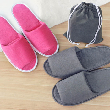 hot sell 1pairs Travel Business Trip Hotel Club Portable Slipper Home Guest Folding Slippers Hotel SPA Supply