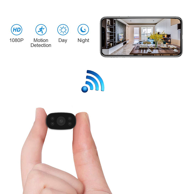 PNZEO Video-Recorder Camera Remote-Monitor Tiny Motion-Detectio Mini 1080P Wireless HD title=