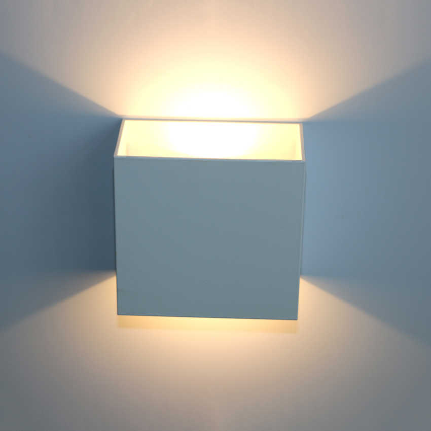release date 9a3fc 6c120 Dimmable LED Up Down Wall Lights Aluminum Modern Wall Lamp AC110V AC220V  Indoor Wall Lighting For Bedroom Living Corridor ML06