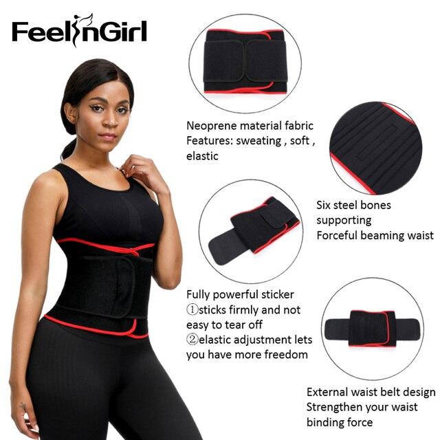 FeelinGirl Women Waist Trainer Hot Neoprene Belt Sauna Sweat Cincher Slimming Strap Body Shaper Tummy Control Lose Weight Fajas 1