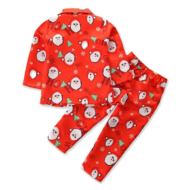 Boys Clothes Winter Christmas Outfits Suits Long Sleeve Children Clothes Toddler Boys Sets Gentleman Suits Costume For Kids 2