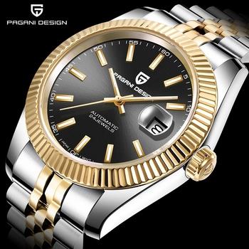 PAGANI Design automatyczny mechaniczny luksusowy zegarek męski Top Brand Focus na męski zegarek ze stali nierdzewnej wodoodporne zegarki kalendarzowe tanie i dobre opinie 10Bar CN (pochodzenie) Składane bezpieczne zapięcie Luxury ru Samoczynny naciąg 22cm STAINLESS STEEL Odporna na wstrząsy