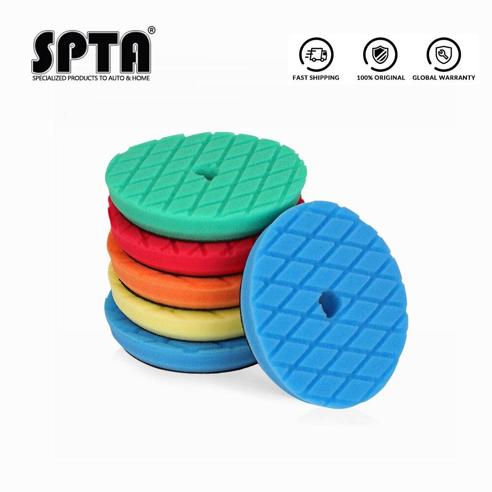 (Vendas a granel 2) spta 6.5 Polegada (165mm) almofadas de polimento de corte pesado & almofadas de polimento para 5 Polegada (125mm) ro/da/ga polidor de carro de ação dupla
