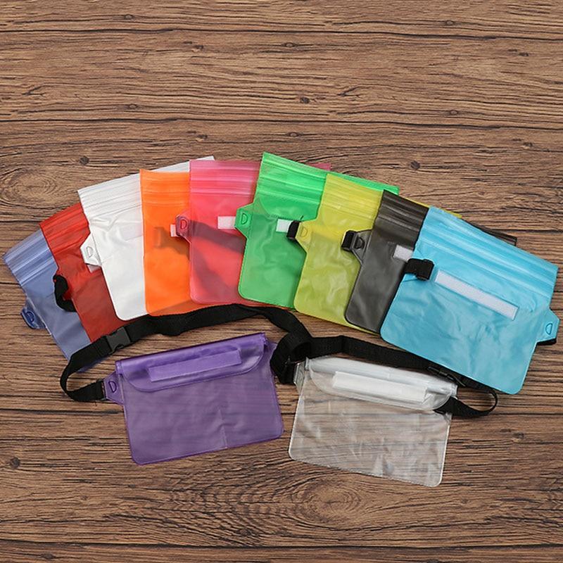 100PCS / LOT Waterproof Ski Drift Diving Swimming Bag Waist Bags Underwater Dry Shoulder Waist Pack Bag Pocket Pouch