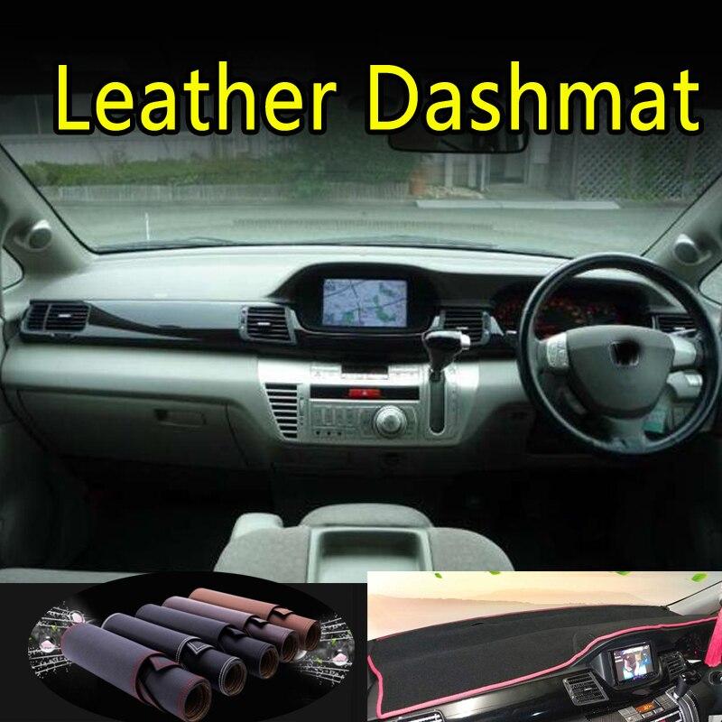 Dla honda edix FR-V 2004 2005 2006 2007 2008 2009 skóra Dashmat pokrywa deski rozdzielczej mata na deskę rozdzielczą dywan akcesoria samochodowe do stylizacji