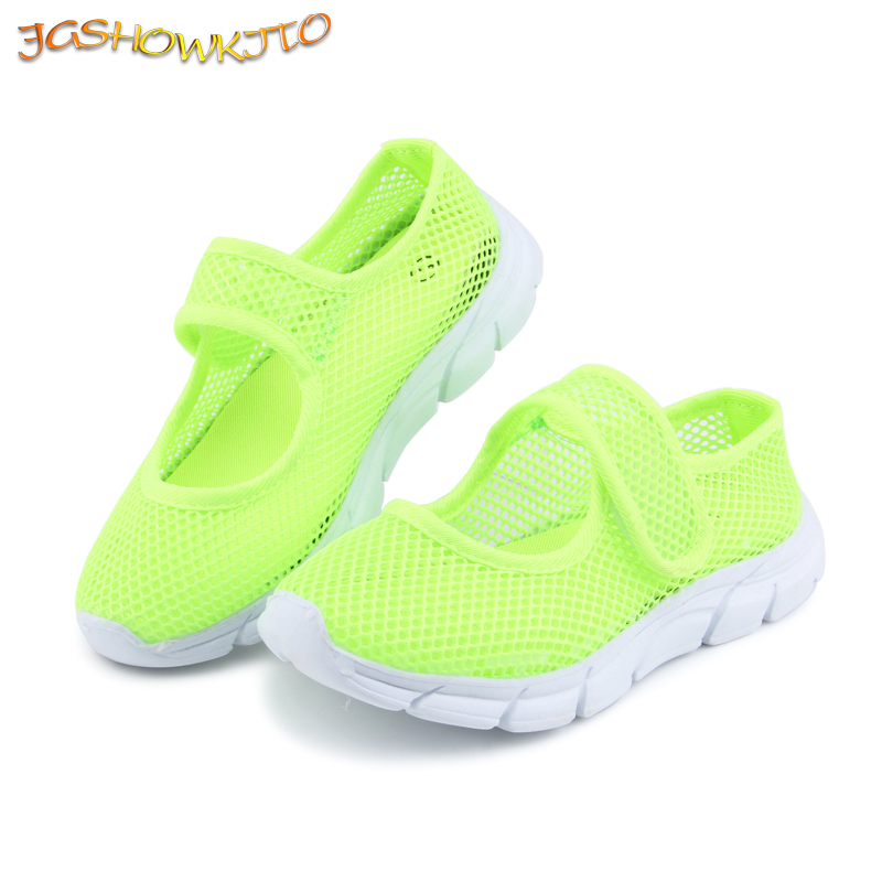 Candy Color Summer Breathable Air Mesh Children Shoes Single Net Cloth Kids Sports Shoes Casual Boys Shoes Girls Sneakers 26-36