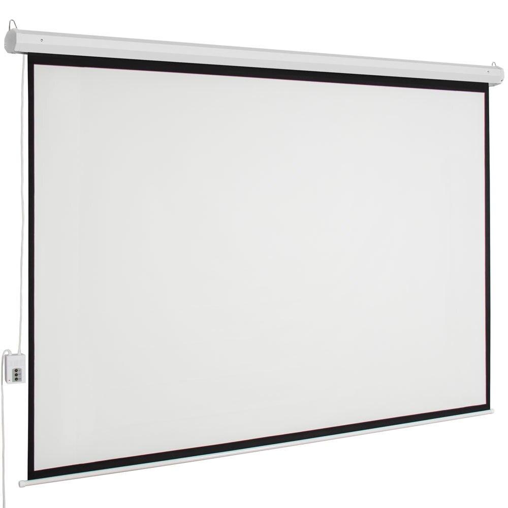 Écran de projecteur 100 pouces zone de visualisation motorisé écran de projecteur mural avec télécommande mat 4:3 écran Anti-lumière