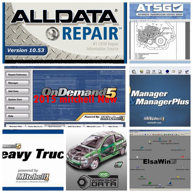 2019 Auto Repair Alldata Software V10.53 Mitchell On Demand 5 Software 2015 Atsg Vivid Workshop Atsg 2017v 1tb Hard Hdd Usb3.0