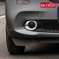 Światło przeciwmgielne samochodu ramka dekoracyjna lampa zewnętrzna stylizacja pokrywy akcesoria naklejka ochronna dla Mercedes Smart fortwo 453 w Naklejki samochodowe od Samochody i motocykle na