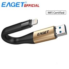 EAGET I90 clé USB USB 3.0 64GB 128GB 2 en 1 MFI certifié OTG stylo lecteur Charge mémoire pour la foudre pour iPhone