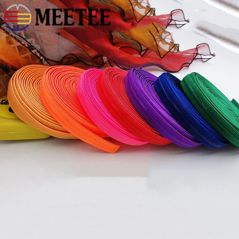 Meetee 5/10M 10mm Transparent Silicone Non-slip Elastic Band Color Underwear Strap Rubber Stretch Lace Webbing DIY Belt Material