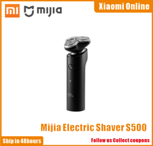Xiaomi Mijia Electric Shaver S500 IPX7 Waterproof Men Razor Beard Trimmer 3 Head Dry Wet Dual Blade Comfy Clean With LED Display