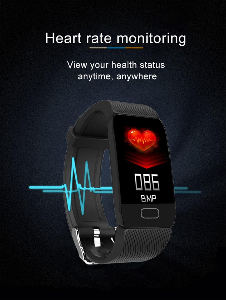H5fd70259803d4000b1d82b764222e87eT 1.14 Smart Band Weather Display Blood Pressure Heart Rate Monitor Fitness Tracker Smart Watch Bracelet Waterproof Men Women Kids