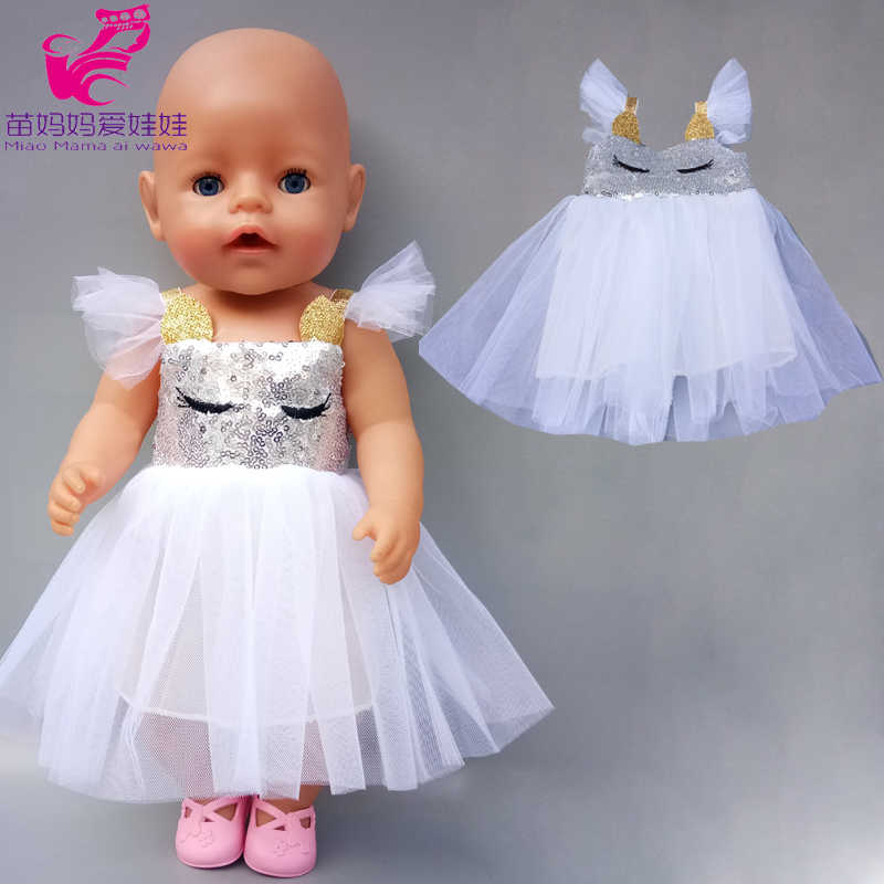 ตุ๊กตาทารก 17 นิ้วสีแดง Ballet Lace ชุดตุ๊กตา 18 นิ้ว Rainbow สีชุด