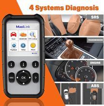 Autel MaxiLink ML629 gelişmiş CAN OBD2 tarayıcı ABS SRS şanzıman motor Diagnosi otomatik VIN tarama aracı kapanma kontrol ışığı