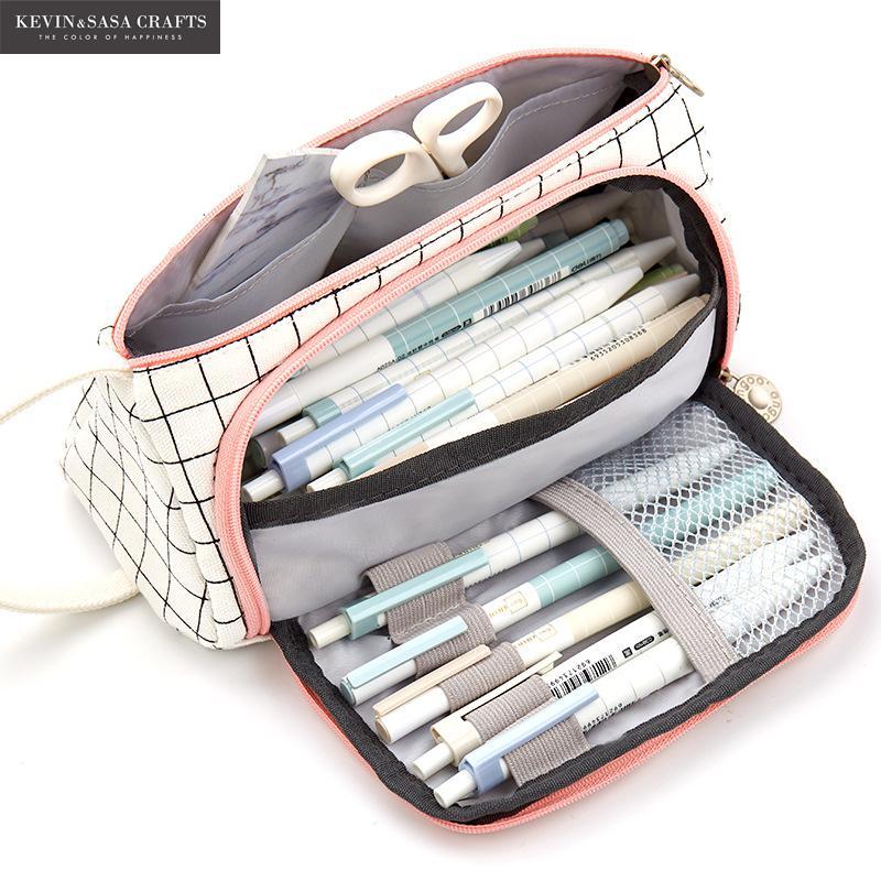 14 Colors Large Capacity Pencil Case Kawaii Pencilcase School Pen Case Supplies Pencil Bag School Box Pencils Pouch Stationery