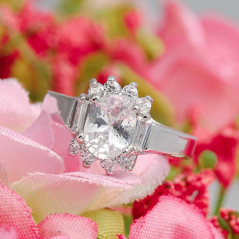 Boho גדול צהוב ורוד מעוקב זירקון אופנה חתונה טבעת בציר גולדפילד תכשיטי אירוסין טבעת אנל Masculino Anelli דונה