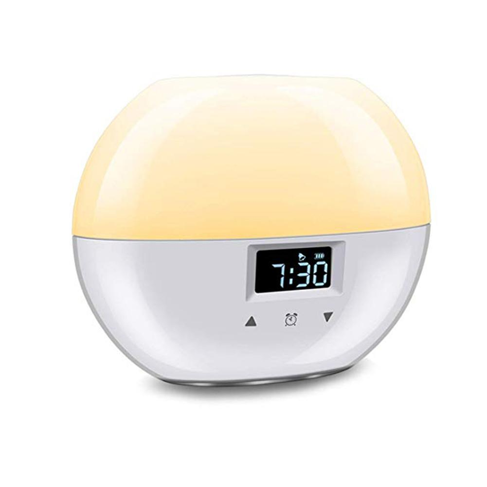 Sunrise Alarm Clock, Upgrade Smart Wake Up Light With 9 Colors For Kids, Sunrise Simulation And Sleeping Mode Night Light For Be